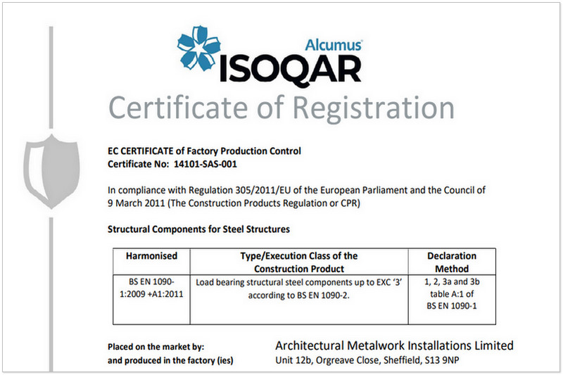 December 2020 - Structural Components for Steel Structures ISOQAR Registered