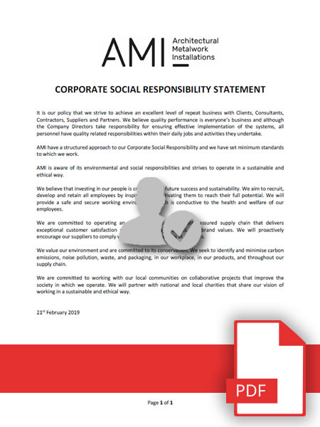 AMI Corporate Social Responsibility Policy