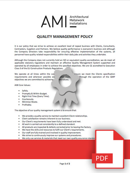 AMI Quality Management Policy