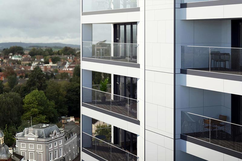 NHBC Approved Fire Rated Structural Glass Balustrade